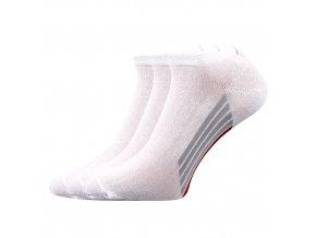 Kotníkové ponožky 3 kusy v balení Boma Piki 44 bílá