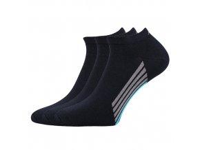Kotníkové ponožky 3 kusy v balení Boma Piki 44 tmavě modrá