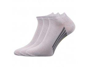 Kotníkové ponožky 3 kusy v balení Boma Piki 44 světle šedá
