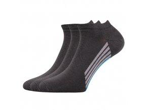 Kotníkové ponožky 3 kusy v balení Boma Piki 44 tmavě šedá