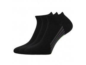 Kotníkové ponožky 3 kusy v balení Boma Piki 44 černá