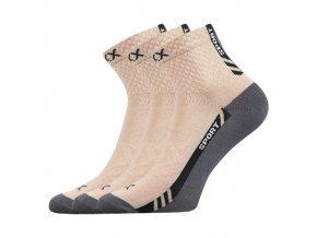 Sportovní Ponožky VoXX PIUS béžová 3 kusy v balení