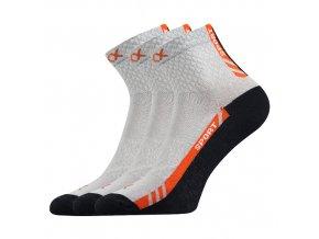 Sportovní Ponožky VoXX PIUS světle šedá 3 kusy v balení