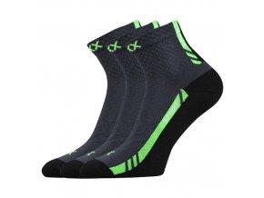 Sportovní Ponožky VoXX PIUS tmavě šedá 3 kusy v balení