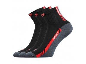 Sportovní Ponožky VoXX PIUS černá 3 kusy v balení