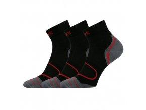 Sportovní Ponožky VoXX Dexter 3 kusy v balení černá