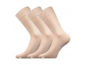 Společenskéí ponožky 3 kusy v balení Boma Radovan béžová