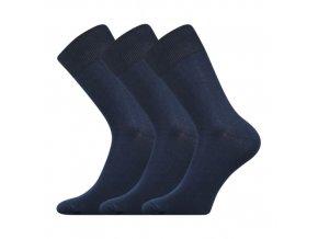 Společenskéí ponožky 3 kusy v balení Boma Radovan tmavě modrá