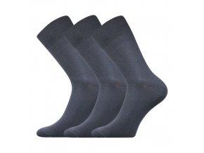 Společenskéí ponožky 3 kusy v balení Boma Radovan tmavě šedá