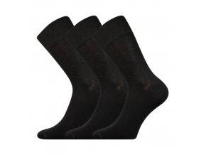 Společenskéí ponožky 3 kusy v balení Boma Radovan černá