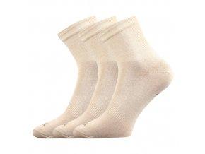Sportovní Ponožky 3 kusy v balení VoXX Regular Béžová