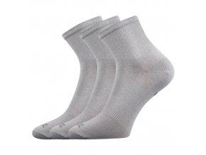 Sportovní Ponožky 3 kusy v balení VoXX Regular Světle Šedá