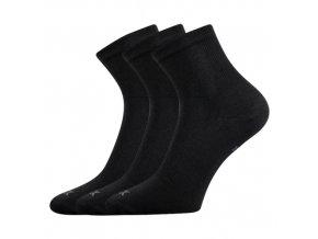 Sportovní Ponožky 3 kusy v balení VoXX Regular Černá