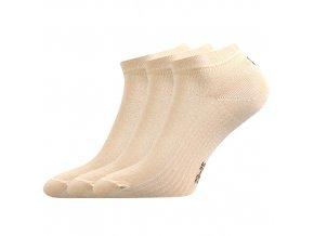 Kotníkové ponožky 3 kusy v balení Lonka Rony béžová
