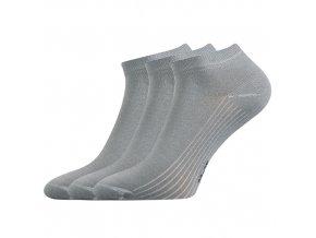 Kotníkové ponožky 3 kusy v balení Lonka Rony světle šedá
