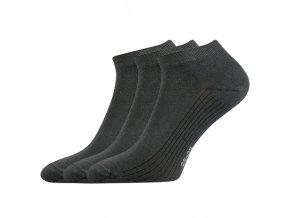 Kotníkové ponožky 3 kusy v balení Lonka Rony tmavě šedá