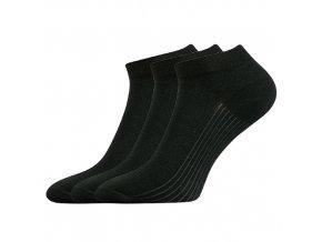 Kotníkové ponožky 3 kusy v balení Lonka Rony černá