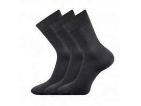 Společenské ponožky 3 kusy v balení Lonka Habin 100% bavlněné tmavě šedá