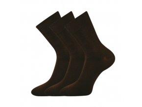 Společenské ponožky 3 kusy v balení Lonka Habin 100% bavlněné hnědá