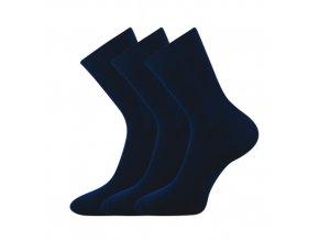Společenské ponožky 3 kusy v balení Lonka Habin 100% bavlněné tmavě modrá