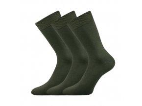 Společenské ponožky 3 kusy v balení Lonka Habin 100% bavlněné khaki
