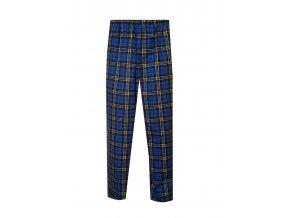 Pánské Pyžamové kalhoty Flanel Foltýn dlouhé modrožlutá kostka