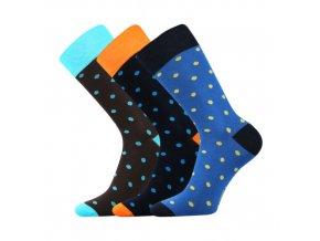 Společenské ponožky 3 kusy v balení Lonka Wearel 001