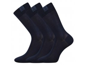 Společenské ponožky 3 kusy v balení Lonka Destyle Tmavě Modrá