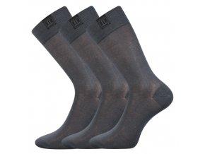 Společenské ponožky 3 kusy v balení Lonka Destyle Tmavě Šedá
