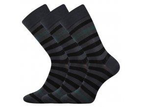 Společenské ponožky 3 kusy v balení Lonka Demertz Tmavě Šedá