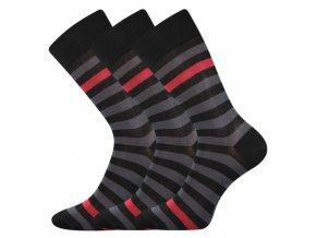 Společenské ponožky 3 kusy v balení Lonka Demertz Černá