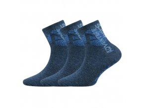 Dětské ponožky 3 kusy v balení VoXX Adventurik jeans
