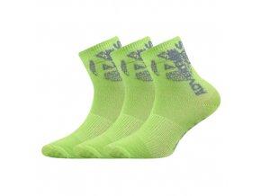 Dětské ponožky 3 kusy v balení VoXX Adventurik světle zelená