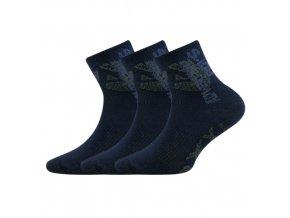 Dětské ponožky 3 kusy v balení VoXX Adventurik tmavě modrá