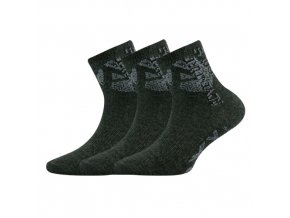 Dětské ponožky 3 kusy v balení VoXX Adventurik tmavě šedý melír
