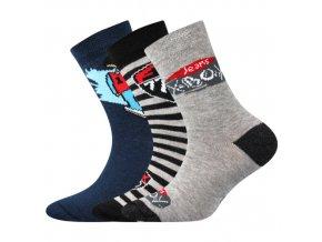 Dětské ponožky 3 kusy v balení Boma 057 21 43 VII mix vzorů B