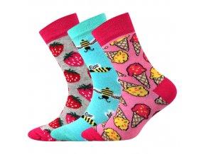 Dětské ponožky 3 kusy v balení Boma 057 21 43 VII mix vzorů C