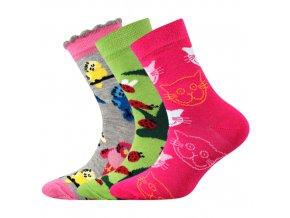 Dětské ponožky 3 kusy v balení Boma 057 21 43 VII mix vzorů D