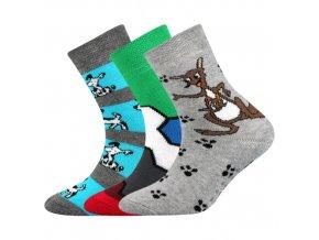 Dětské ponožky 3 kusy v balení Boma Sibiř Protiskluzové Chlapec