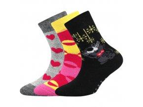 Dětské ponožky 3 kusy v balení Boma Sibiř Protiskluzové Dívka
