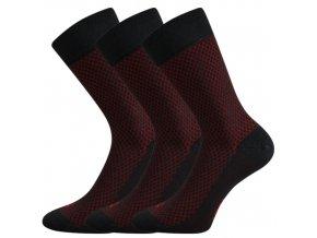 Společenské ponožky 3 kusy v balení Lonka Marcius Tmavě Šedá