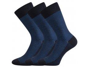 Společenské ponožky 3 kusy v balení Lonka Marcius Tmavě Modrá