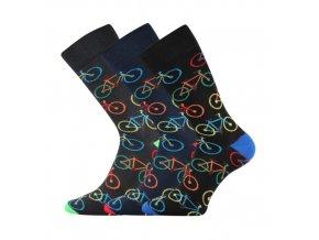 Společenské ponožky 3 kusy v balení Lonka Wearel 014