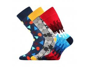 Společenské ponožky 3 kusy v balení Lonka Woodoo mix D