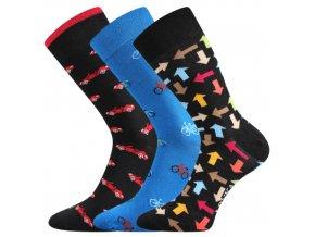 Společenské ponožky 3 kusy v balení Lonka Woodoo mix R