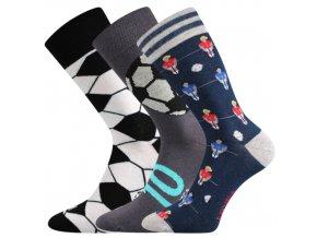 Společenské ponožky 3 kusy v balení Lonka Woodoo mix S