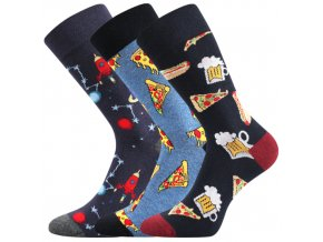 Společenské ponožky 3 kusy v balení Lonka Depate mix C