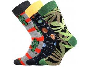 Společenské ponožky 3 kusy v balení Lonka Depate mix E