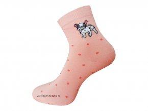 Dámské Společenské Ponožky Wola artikl 415 růžové