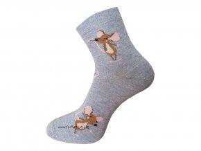 Dámské Společenské Ponožky Wola artikl 747 šedé